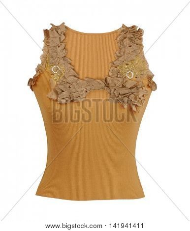 yellow fashion blouse isolated on white
