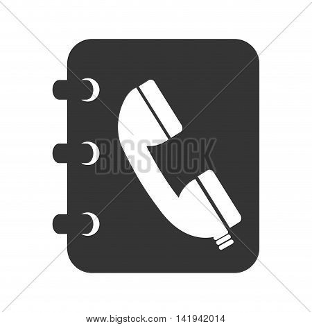 phonebook book notes, isolated flat icon design