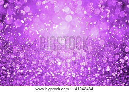 Abstract dark purple glitter sparkle confetti background and invite for Halloween night party or club