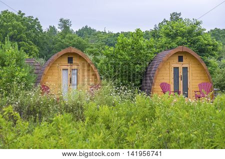 Glamping Accommodation in a Luxury Camp Ground