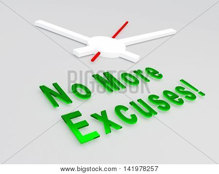 No More Excuses Concept