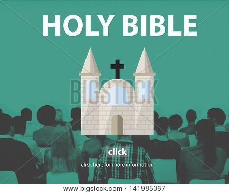 Holy Bible Pray Spiritual Wisdom Worship Christ Concept
