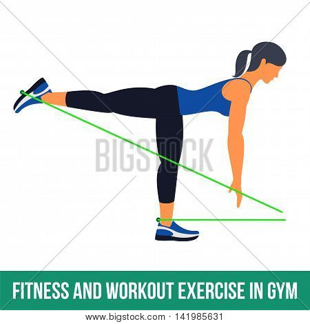 Aerobic Icons. Resistance Band