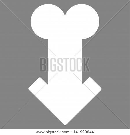 Male Sexual Disfunction vector icon. Style is flat symbol, white color, rounded angles, gray background.
