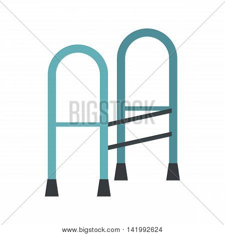 Walking frame icon in flat style on a white background