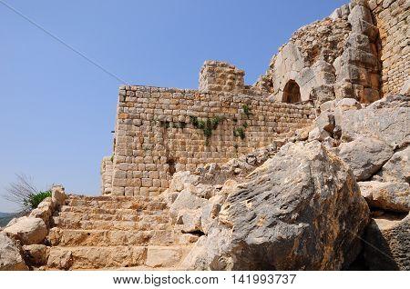Kalaat Nimrod half ruined fortress in the Northern Israel.