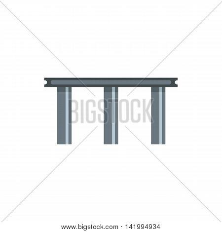 Beam bridge icon in flat style on a white background