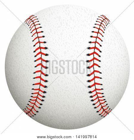 White baseball ball on a white background.