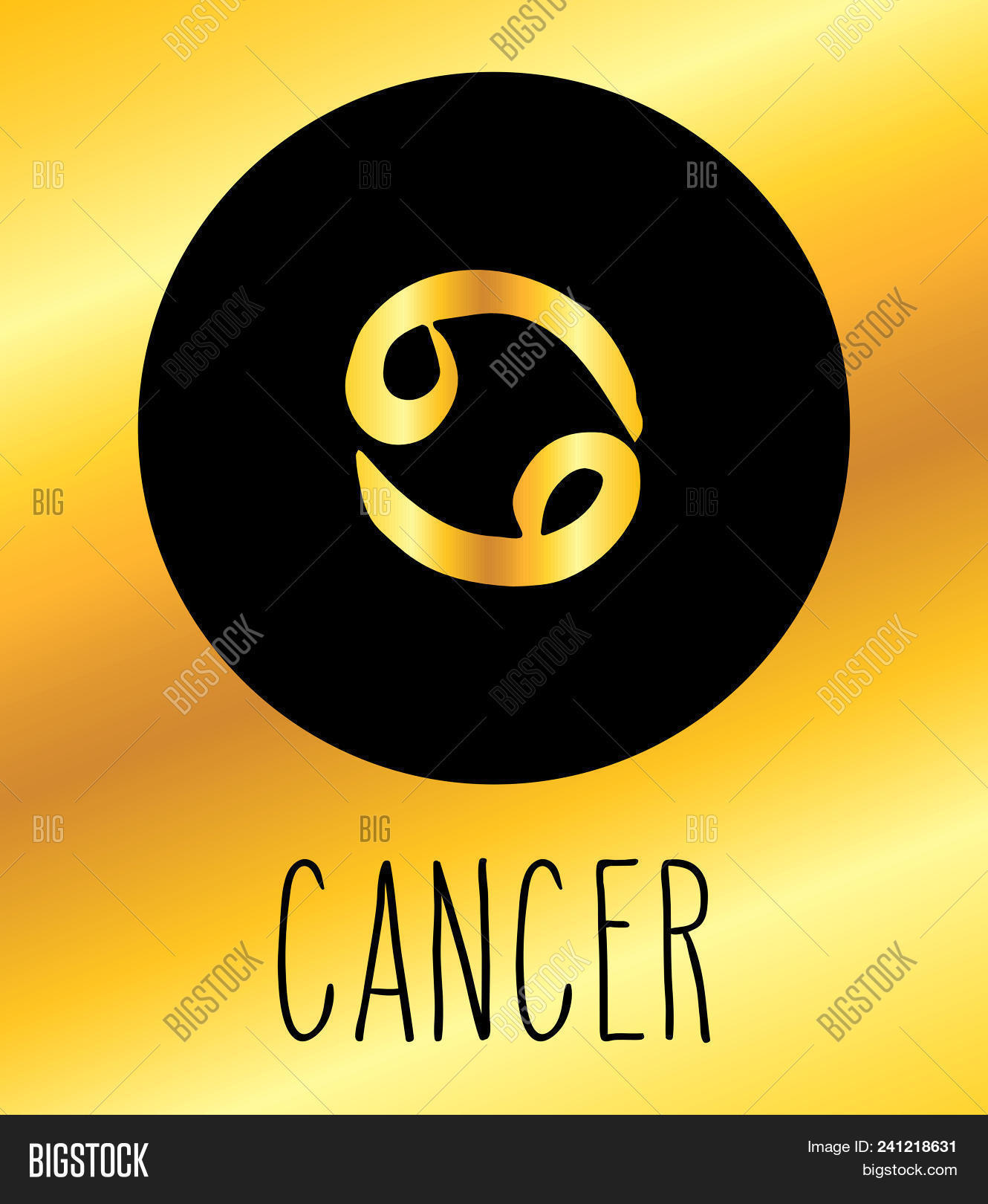 Cancer Hand Drawn Vector Photo Free Trial Bigstock