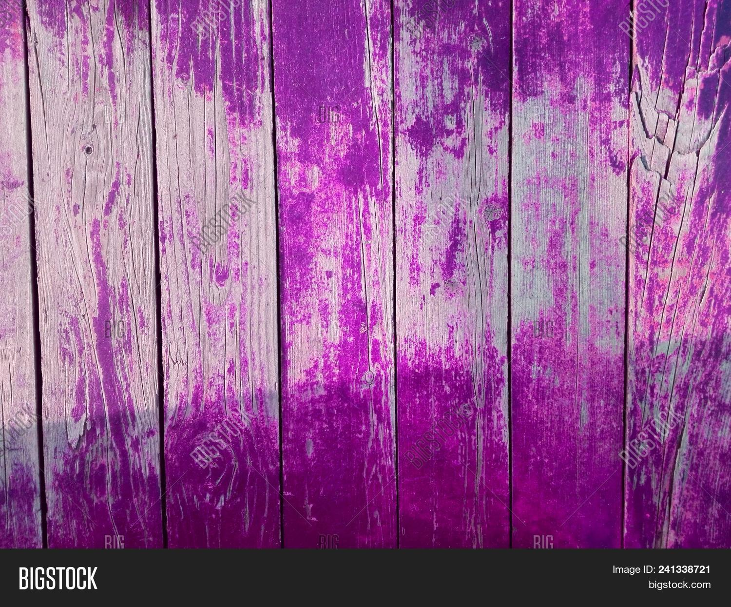 Close Up Wall Or Floor Wooden Purple Plank Panel Board As Pink Background For Text Old Wood Vintage Paint