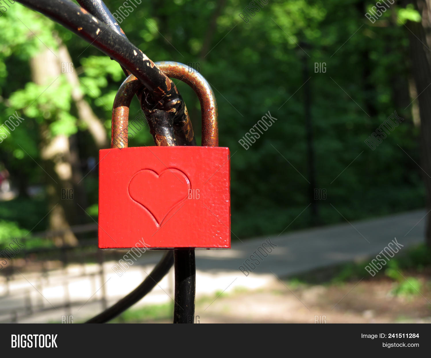 Red Padlock Love Heart Image Photo Free Trial Bigstock