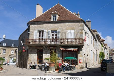 Vezelay, France - September 13, 2010: A Bar In An Ancient House In Vezelay. Vezelay Is A Commune In