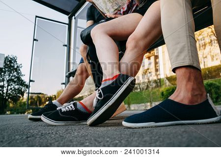 Comfortable Shoes On Tourists' Feet