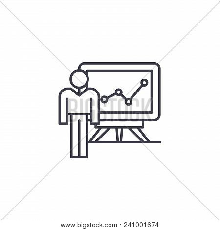 Analytical Findings Line Icon, Vector Illustration. Analytical Findings Linear Concept Sign.