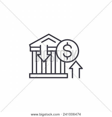 Banking Transactions Line Icon, Vector Illustration. Banking Transactions Linear Concept Sign.