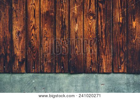 Rustic Brown Wooden Background, Weather Worn Wood Planks