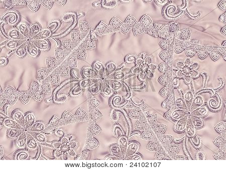 Background lace with flowers