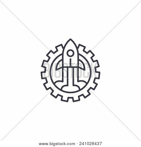 Business Startup Line Icon, Vector Illustration. Business Startup Linear Concept Sign.