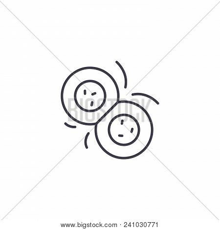 Cell Division Line Icon, Vector Illustration. Cell Division Linear Concept Sign.