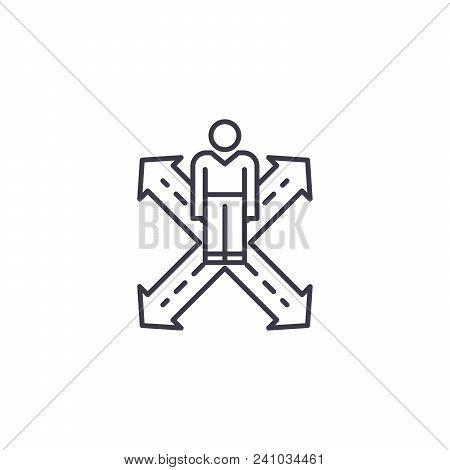 Consumer Behavior Line Icon, Vector Illustration. Consumer Behavior Linear Concept Sign.