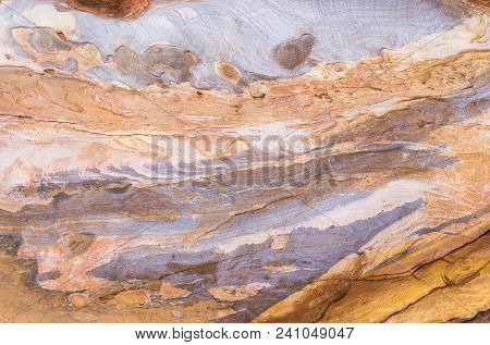 Sandstone Gorge Formation, Rose City, Siq, Petra, Jordan. Sandstone Gorge Abstract Pattern Formation