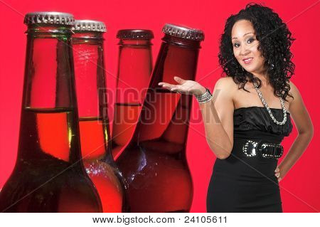 Woman And Beer