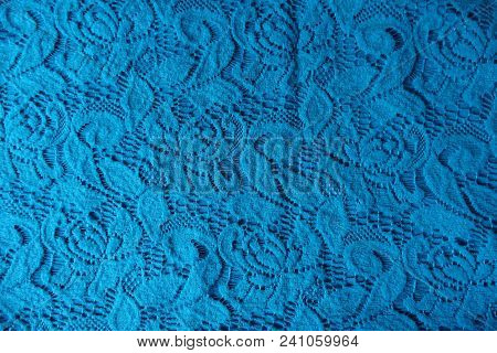 Cotton Lace In Cerulean Color From Above