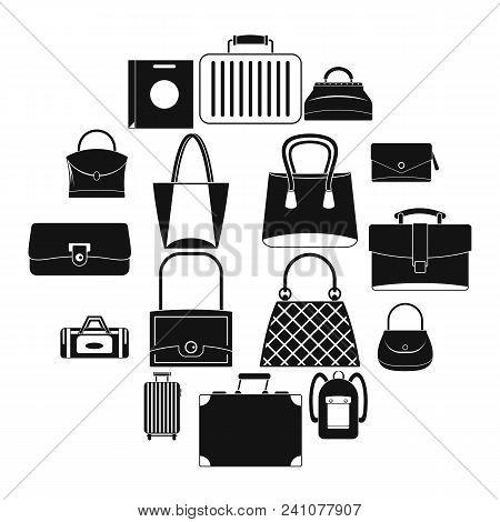 Bag Baggage Suitcase Icons Set. Simple Illustration Of 16 Bag Baggage Suitcase Vector Icons For Web