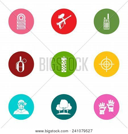 Military Doctrine Icons Set. Flat Set Of 9 Military Doctrine Vector Icons For Web Isolated On White