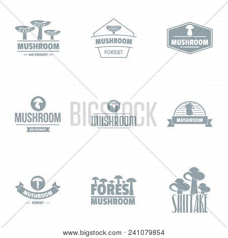 Mycelium Logo Set. Simple Set Of 9 Mycelium Vector Logo For Web Isolated On White Background