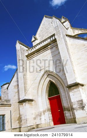 A Splash Of Color: White Cathedral In Auxerre, France