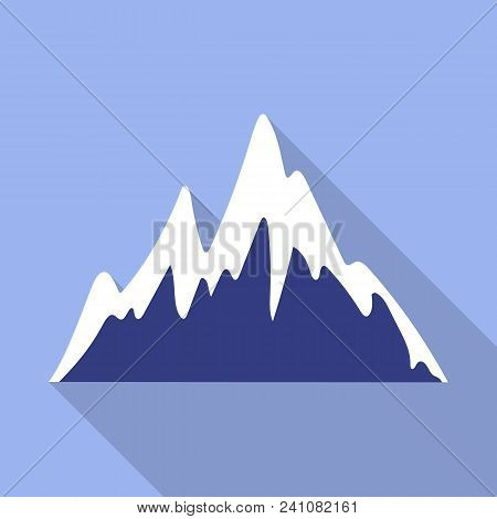 Ice Mountain Peak Icon. Flat Illustration Of Ice Mountain Peak Vector Icon For Web Design