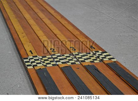 Boy Scout Pinewood Derby Race Track Course