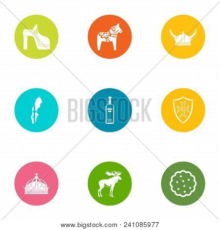Medieval Trip Icons Set. Flat Set Of 9 Medieval Trip Vector Icons For Web Isolated On White Backgrou