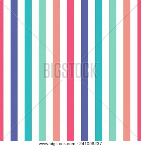 Seamless Pattern Stripe Colorful Colors. Vertical Pattern Stripe Abstract Background Vector Illustra