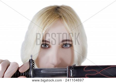 Blonde Girl With A Sword In Her Hands