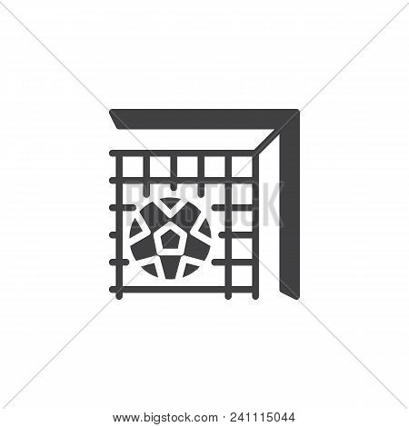 soccer ball net vector photo free trial bigstock