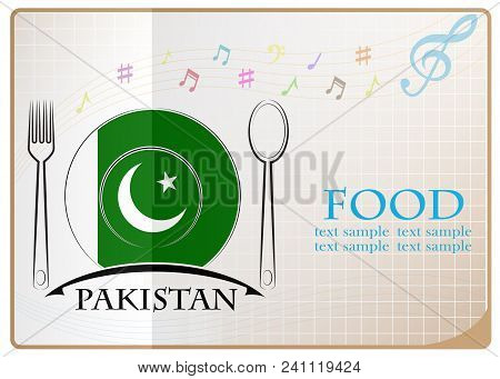 Food Logo Made From The Flag Of Pakistan
