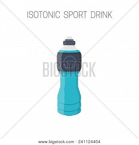 Bottle With Isotonic Sport Drink Icon. Isolated Vector Illustration.
