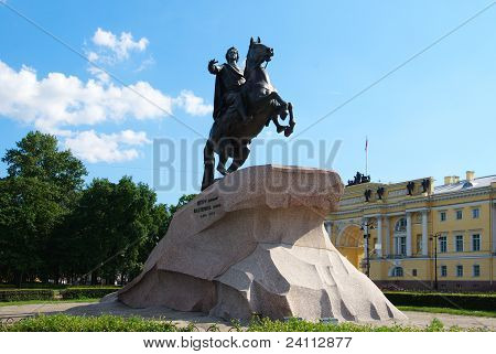 Monument To Peter The Great At St. Petersburg