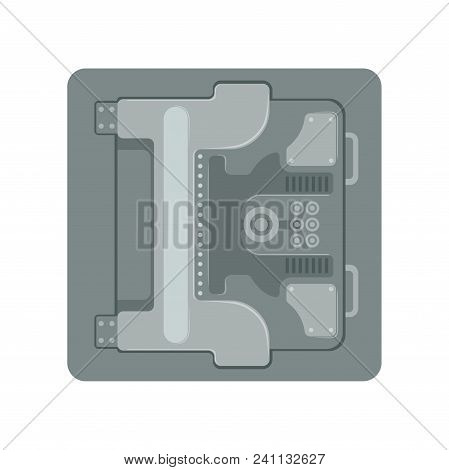Safe Metal Armored Box With A Mechanical Combination Lock, Safety Business Box Cash Secure Protectio