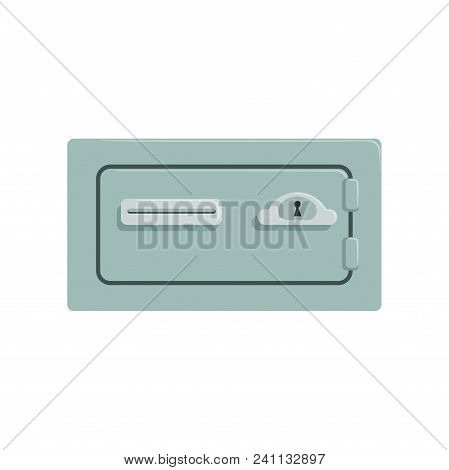 Safe Metal Box, Safety Business Box Cash Secure Protection Concept Vector Illustration Isolated On A