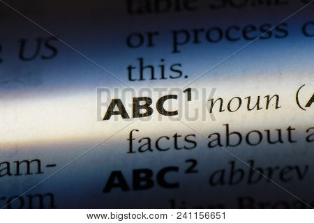 Abc Word In A Dictionary. Abc Concept.