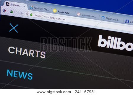 Ryazan, Russia - May 13, 2018: Billboard Website On The Display Of Pc, Url - Billboard.com