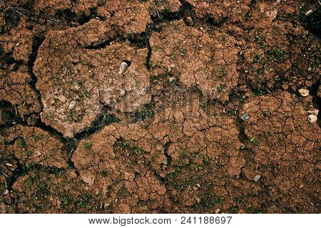 Clay Soil. Clay Earth. Cracked Earth. Clay Background. Red Earth. Red Soil. Grunge Brown Earth.