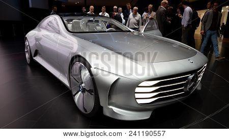 Frankfurt, Germany - Sep 16, 2015: Mercedes-benz Concept Iaa (intelligent Aerodynamic Automobile) Ca