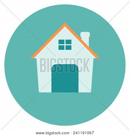Small House. Icon . Simple Flat Symbol Illustration. Stock Vector Illustration
