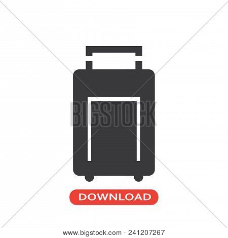 Stroller Bag Icon Vector In Modern Flat Style For Web, Graphic And Mobile Design. Stroller Bag Icon