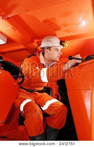 Miner im cockpit