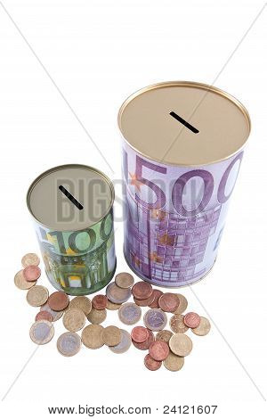 Euro Money Boxes And Coins